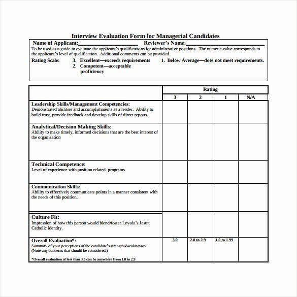 Employee Interview Evaluation Form Fresh Interview Evaluation Form 14 Download Free Documents In Notes Document Evaluation Form Notes Template