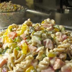 Ham Pasta Salad...this is unlike any other pasta salad I have had.