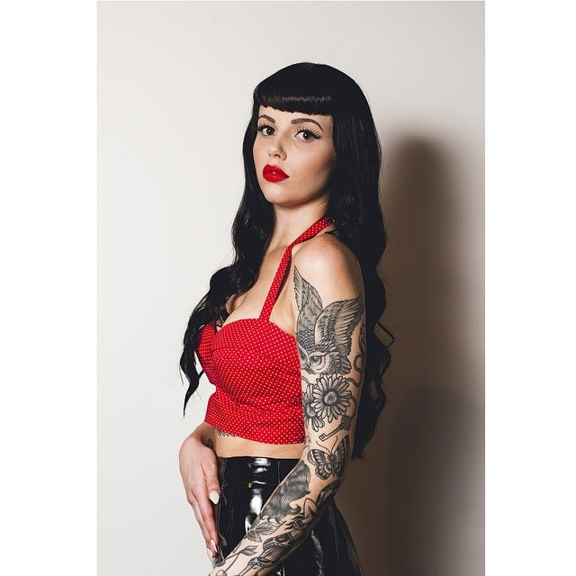 Bettie bangs+ long hair