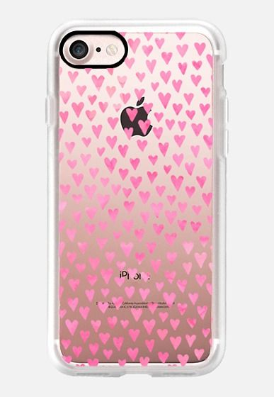 Casetify iPhone 7 Classic Grip Case - Little Pink Hearts by Elisabeth Fredriksson #Casetify