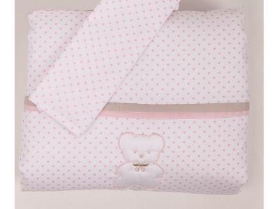 Piumino per culla Picci Cocò comprensivo di federina per cuscino e lenzuolo sotto con angoli.