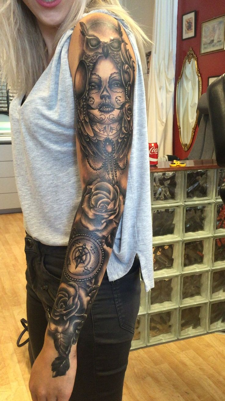 #tattoo#sleevetattoo#griltattoosleeve#bodytattoo#