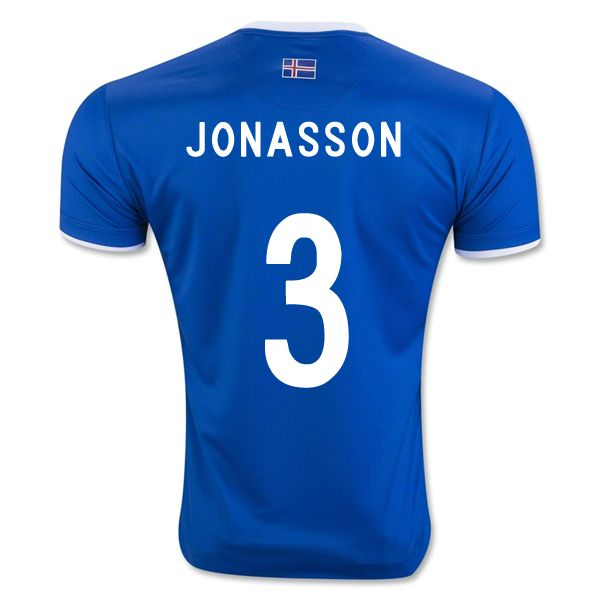 d315d4de7 Hallgrimur Jonasson 3 2018 FIFA World Cup Iceland Home Soccer Jersey ...