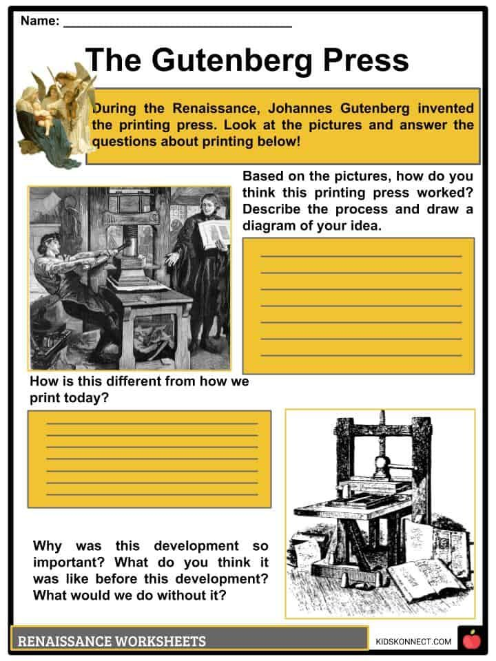The Renaissance Period Facts Information Worksheets Culture Arts Renaissance Culture Art Renaissance Period Renaissance worksheet answer key