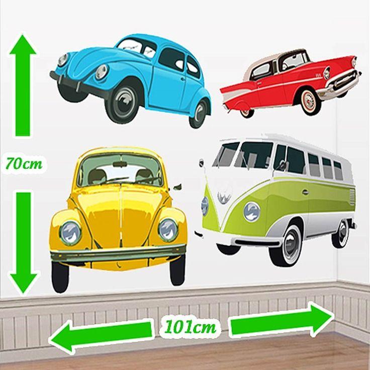 Cenário Adesivo Carros Vintage - Modelos de Carros