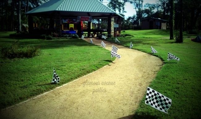 Race Car Outdoor Birthday Party