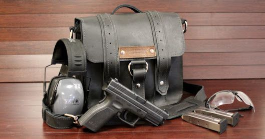 Leather Range Bags For Pistols Google Search Firearms