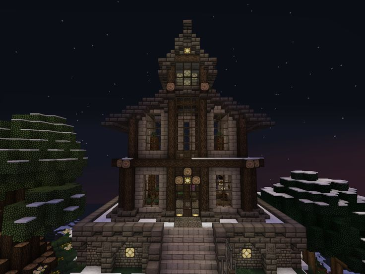 Town Hall from the spawn on Elysium Crafting (Minecraft multiplayer survival server)