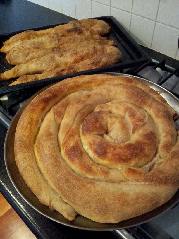 Masanica pita made with homemade pastry