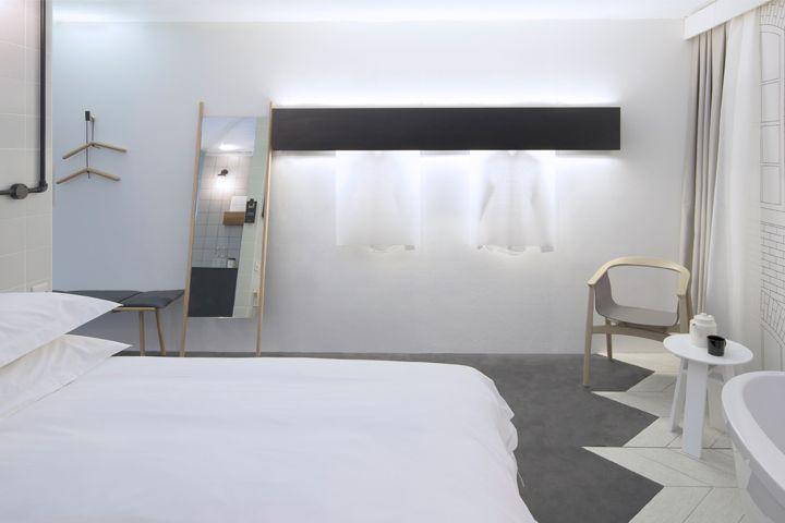 Hotel bedroom design for Sleep, NoChintz
