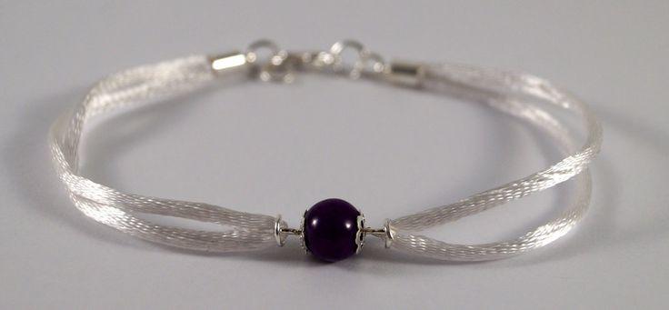 Purple jadeite bracelet by TosTosia