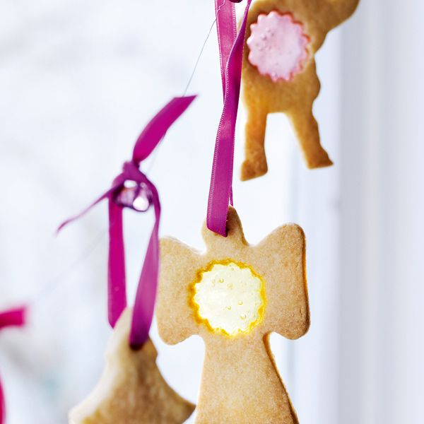 These fab biscuits look so pretty with the sweets in the middle of each one. Kids will love making them.