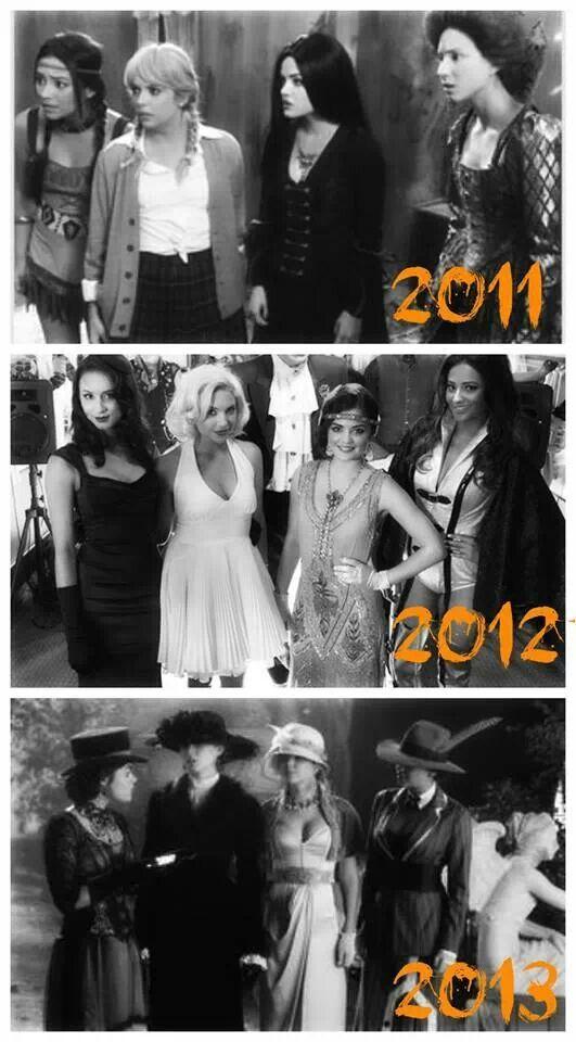 2011- 2013 Lucy Hale, Ashley Benson, Shay Mitchell, & Troian Bellasario
