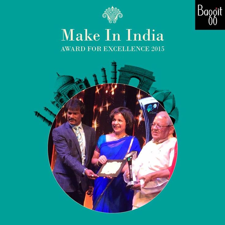 "Nina Lekhi was proud to receive the "" #MakeInIndia "" Award for #Baggit in the Lifestyle Sector by Kalraj Mishraa recognition of our efforts to be authentically homegrown."