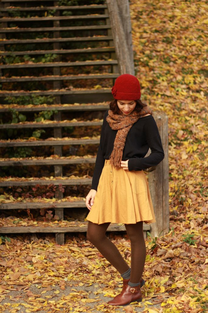 {Pumpkin Spice} super cozy and feminine fall outfit in H&M, Gap, Forever21, Anthropologie and Goodwill #TalitaSays
