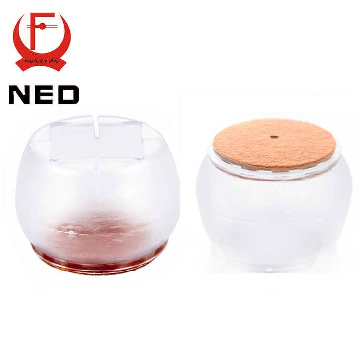 NED Diameter 42mm 4pcs/Set Chair Leg Caps Silica Gel Feet Protector Pads Furniture Table Covers Round Bottom Non Slip Cup