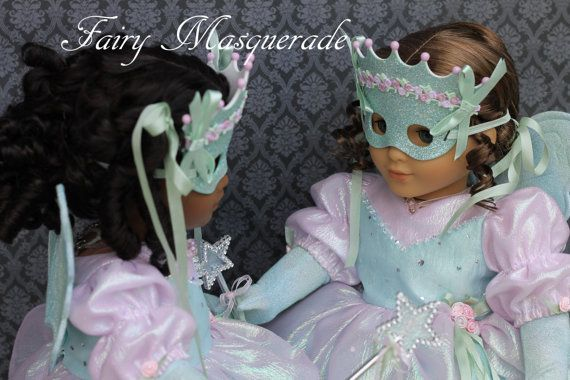 "Marie-Grace & Cecile Shimmer in Mardi Gras Fairy Costumes...""Fairy Masquerade""... Perfectly Magnifique For a Victorian New Orleans Adventure $149"