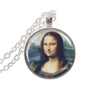 Ručne vyrobený prívesok inšpirovaný motívom Leonardo da Vinci, strieborný