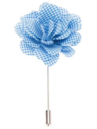 lanvin gingham flower pin