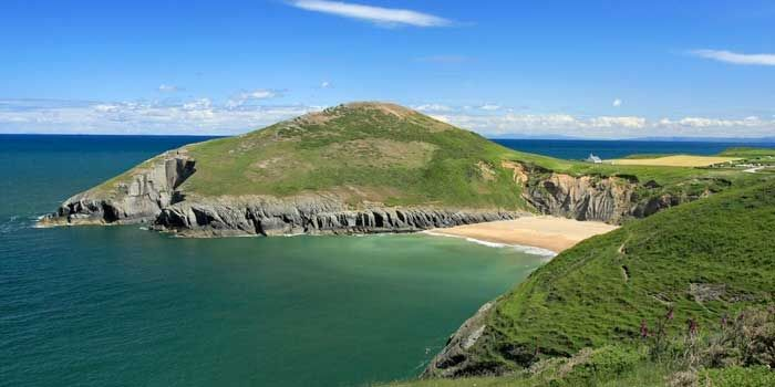 West Wales ...a place called Mwnt....dolphins viewed from the headland.