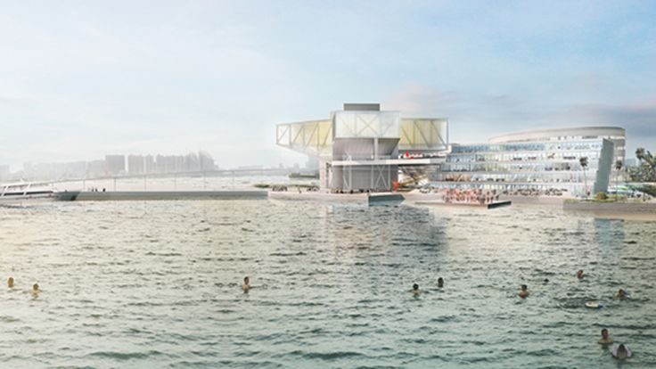 Zhanjiang Cultural Center Competition Entry. OMA (2014)