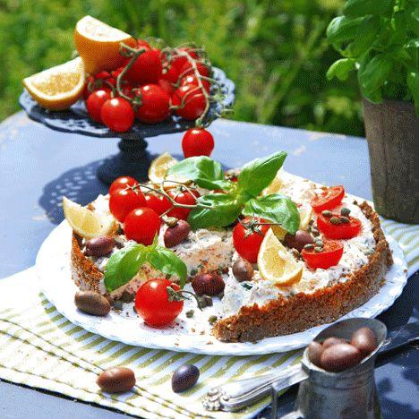 Medelhavsinspirerad cheesecake med fetaost