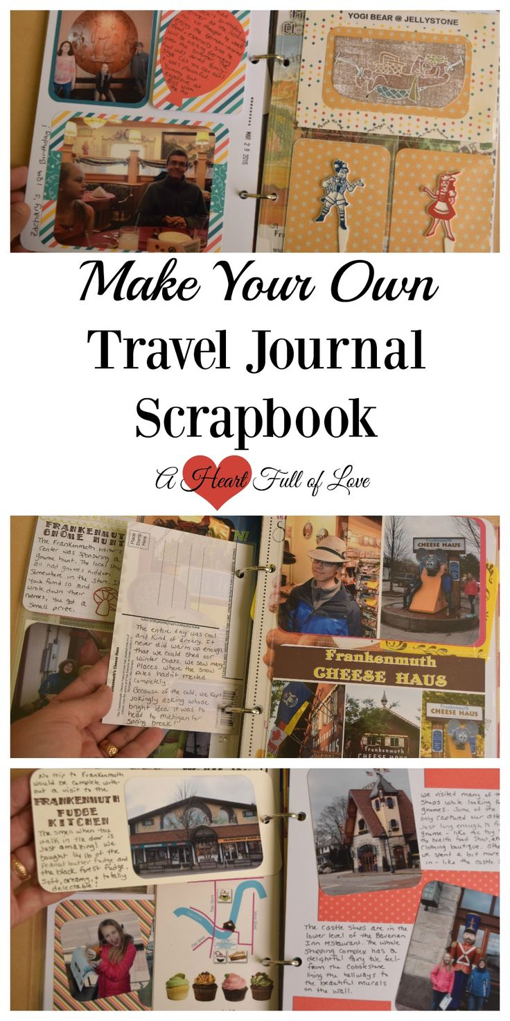 Going on vacation this summer? Learn how to make your own travel journal scrapbook to document all the fun things you do and see along the way. It's easy!