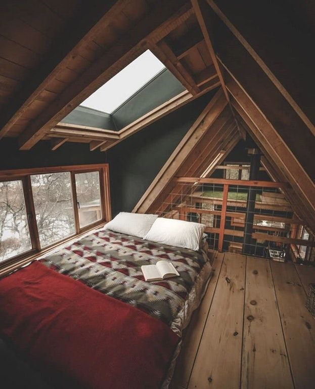 33 Awesome Attic Room Ideas Attic Bedroom Designs Pictures A Frame House Tiny House Design House Design
