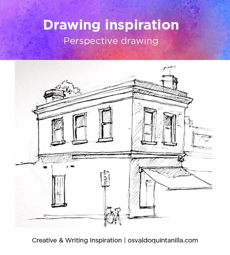 From my sketch of the week. Tried this drawing from a local street. You can learn how to draw in perspective too.