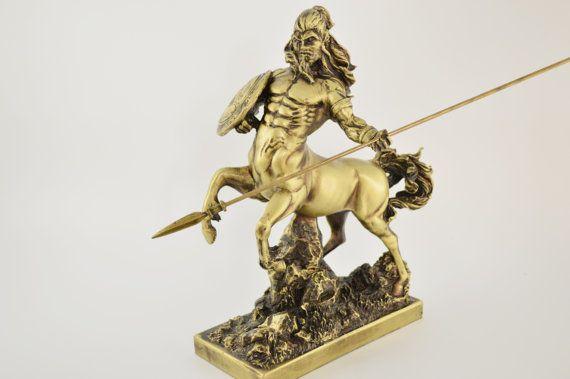 Centaurus statue / Bronze plated polyester by CraftsAndMetal
