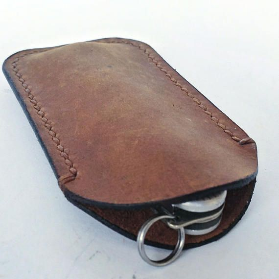 Italian leather Victorinox pocket knife sleeve folding knife