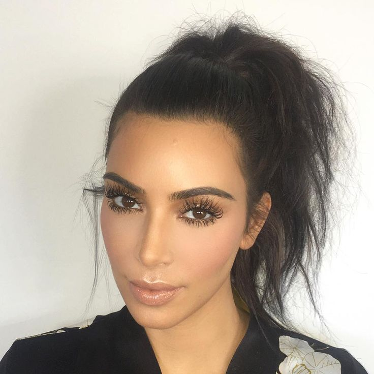 Best 25+ Kim kardashian ponytail ideas on Pinterest | High ...