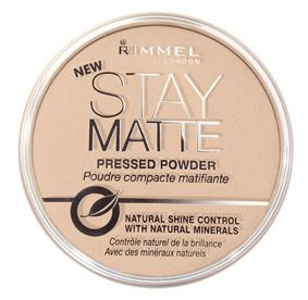 Rimmel London Stay Matte Pressed Powder. LOVE! My skin has become oily and I hate looking so shiny, this powder keeps me matte for most of the day.