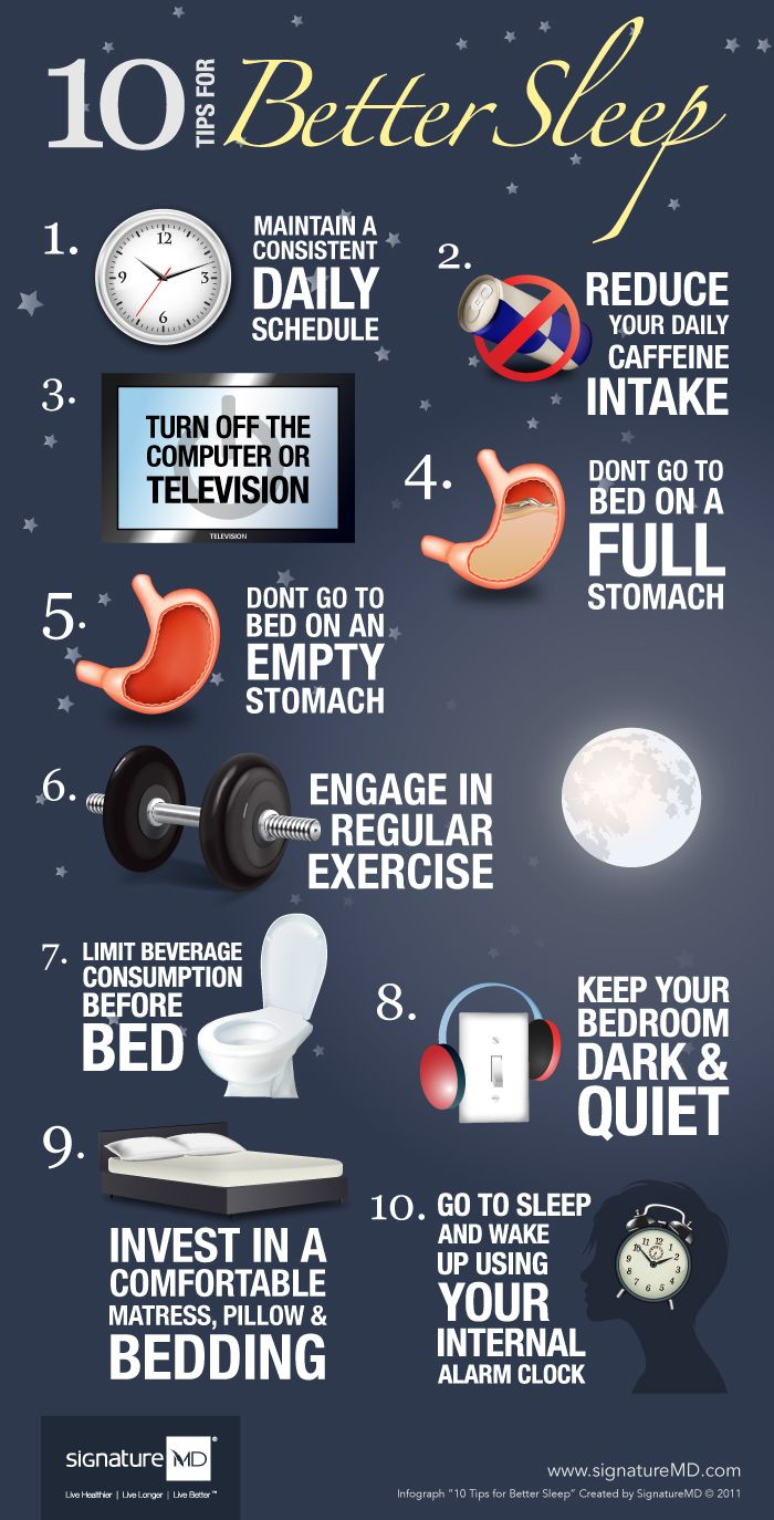 10 Tips for Better Sleep #Infographics ~ With optimal health often comes clarity of thought. Click now to visit my blog for your free fitness solutions!