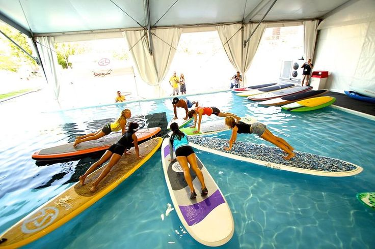 Indoor pool  SUP Yoga class
