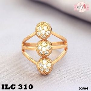 Cincin Berlian Triple Ball Lapis Emas 18k LC310