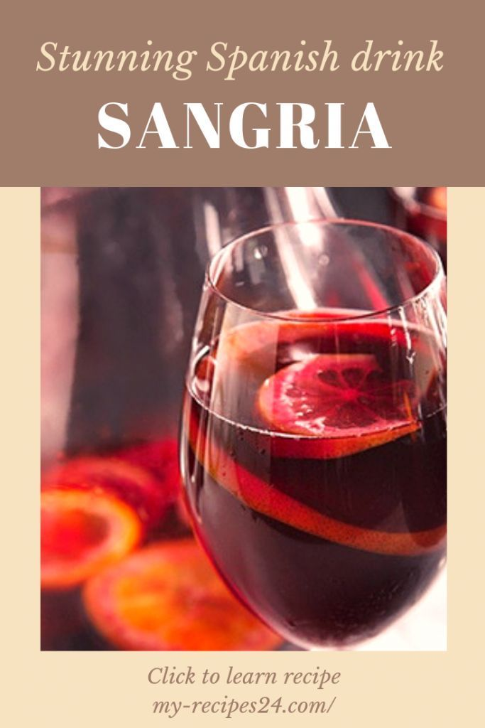 Impresionante bebida española – Sangría – Mis recetas favoritas Mi amante …   – Recetas Españolas