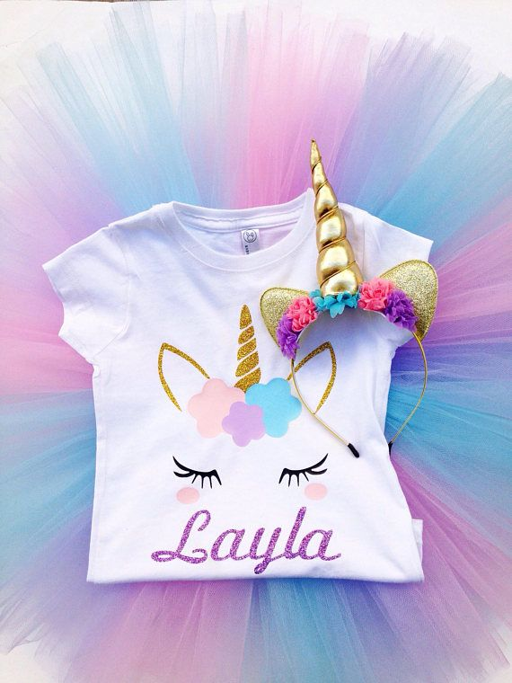 Unicorn Personalized Birthday Outfit Tutu 2nd 3rd 5th Photos