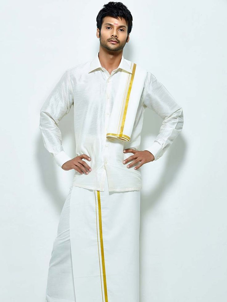 South indian groom attire google search wedding stuff for Wedding dress shirts for groom