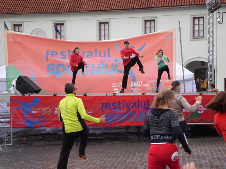 Demonstratie Tae Bo la Festivalul Sportului Sibiu