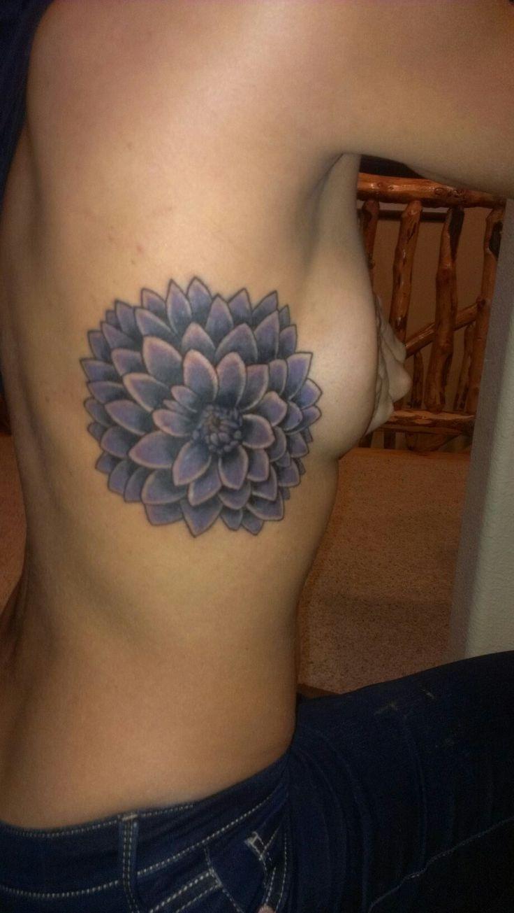 I did it!! Dahlia tattoo by Derek at Tahoe Tattoo Dec 2012 Amanda Fein