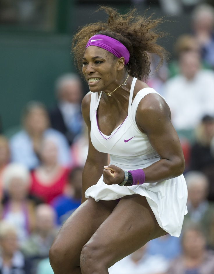 Serena Williams during her quarterfinal match at the 2012 Wimbledon Championships.  Serena will play her seventh season of World TeamTennis this summer with the Washington Kastles.