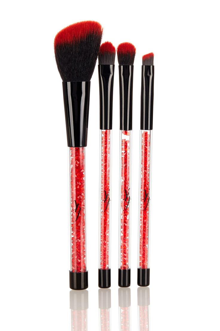 Stunning Red Crystal PRO Brush Collection by ybf Cosmetics on @HauteLook
