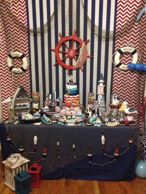 Nautical Birthday Party!  See more party ideas at CatchMyParty.com!