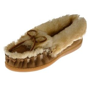 Minnetonka Moccasins 3401 - Women's Ultimate Sheepskin Slipper - Golden Tan