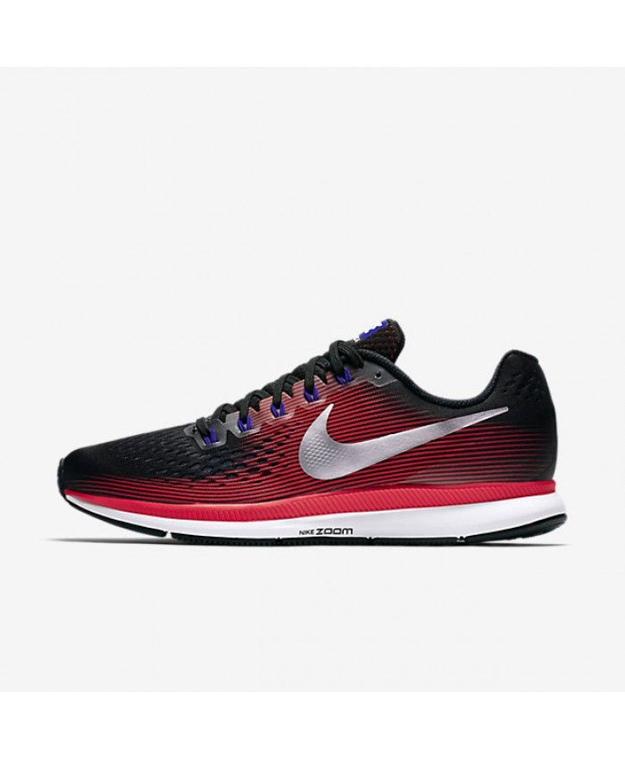 5269cd103e46a9 Nike Air Zoom Pegasus 34 Black Bright Crimson Concord Metallic Silver  880555-006