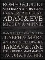 Engravable Plaque-Famous Names-Black (12 x 16)