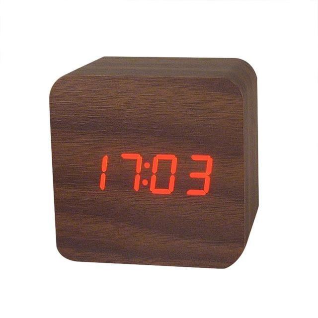 MINI Wooden LED Alarm Clocks Temperature Electronic Clock