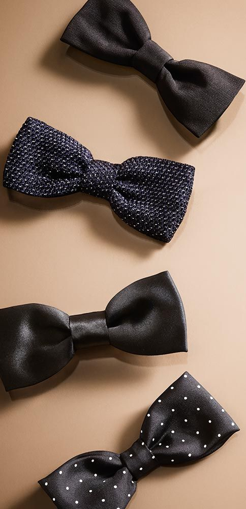 Textured and patterned silk bow ties - discover eveningwear for men from Burberry