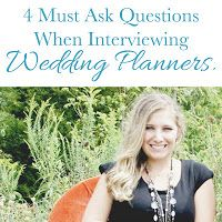 If you're considering hiring a wedding planner, make sure you ask the right questions when you do your interviews.  Unsure of which questions to ask and what responses you are looking for?  Don't worry, many brides feel this way. That is why we have compiled a list of the 4 must ask questions!